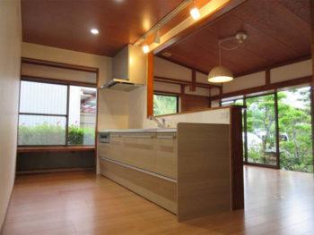 和室をダイニングキッチンに大きくリニューアル