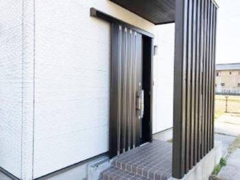 親子扉から片引き戸へ~玄関ドアリフォーム工事~