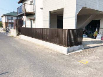 長年にわたり役目をしっかりと果たしてくれたブロック塀を大幅リニュアル