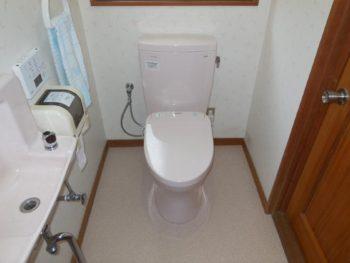 節水トイレ&キレイ除菌水ウォシュレットリモデル工事