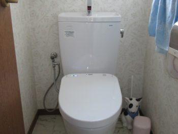 節水トイレにリフォーム工事