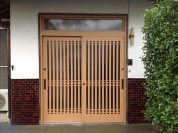 木製玄関引き戸から最新玄関引き戸にリニューアル工事