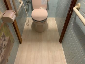 トイレ床リニューアル工事