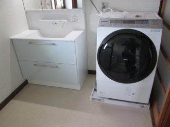洗面台が広くなりスッキリ!