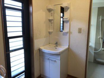 使い慣れた水栓金具と同タイプでの洗面化粧台交換