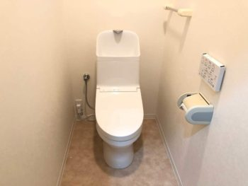 節水トイレ化&内装明るくリニューアル