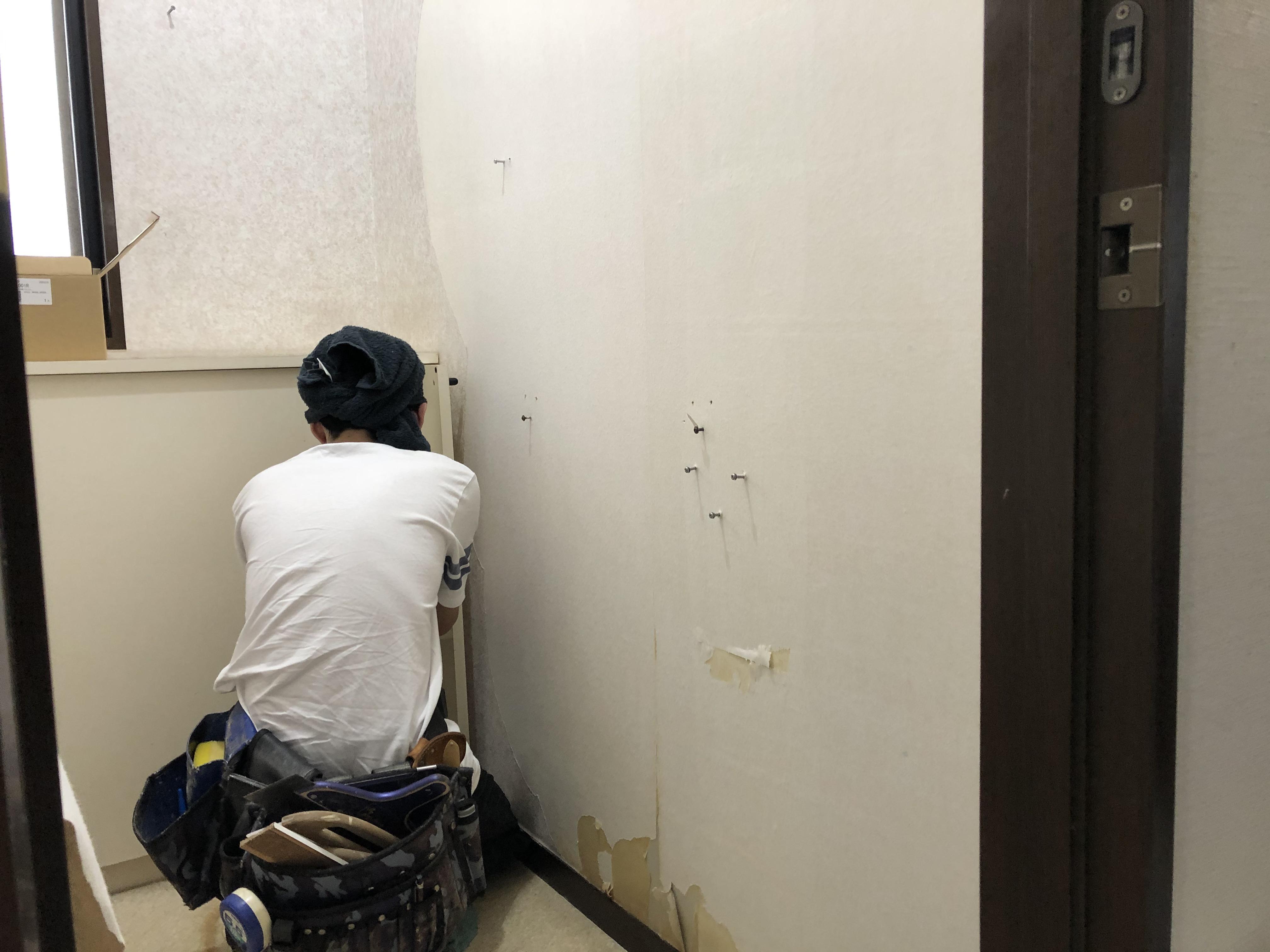 トイレルーム 施工中です(*^-^*)