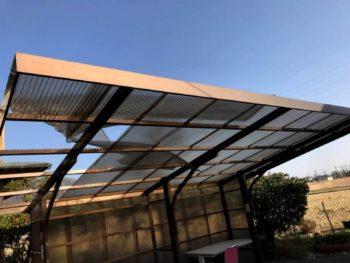 風害によるナミイタ屋根貼り替え&手すり延長工事
