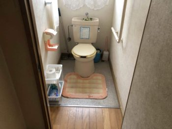 下水接続に伴い 水洗トイレへリニューアル
