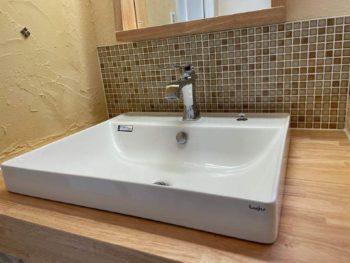 洗面脱衣室にオンリーワン洗面化粧台を新設♫