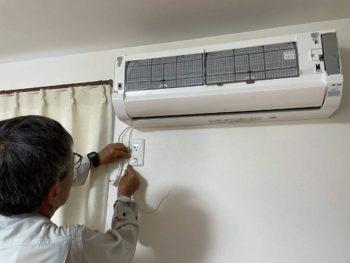 基盤の故障に伴いエアコン即交換工事